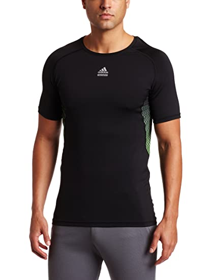 adidas Mens TECHFIT Hero Shirt (Black, XXX-Large)