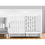 Sweet Jojo Designs 11-Piece Grey and White Woodland Arrow Boy, Girl, Unisex Baby Crib Bedding Set without Bumper s