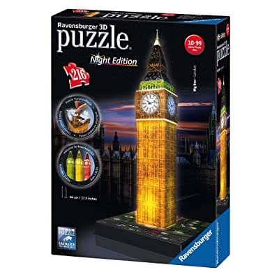 Ravensburger Big Ben - Night Edition - 216 Piece 3D Jigsaw Puzzle for Kids and Adults - Easy Click Technology Means Pieces Fit Together Perfectly: Toys & Games