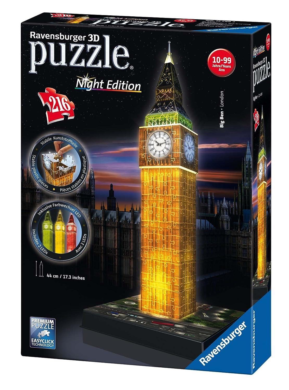 Ravensburger 12588 3D-Puzzle Big Ben bei Nacht Ravensburger Spielverlag Architektur