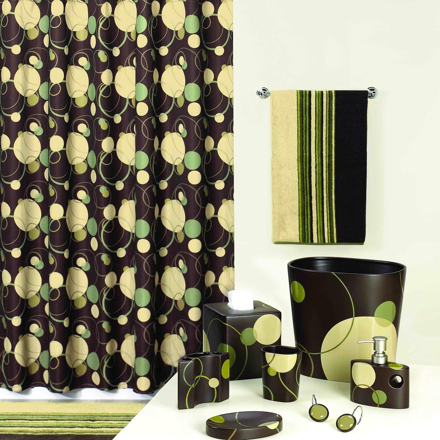 DC Curtain Retro Max 50% OFF Remix Brown Fabric Double Printe Free Shipping Cheap Bargain Gift Shower