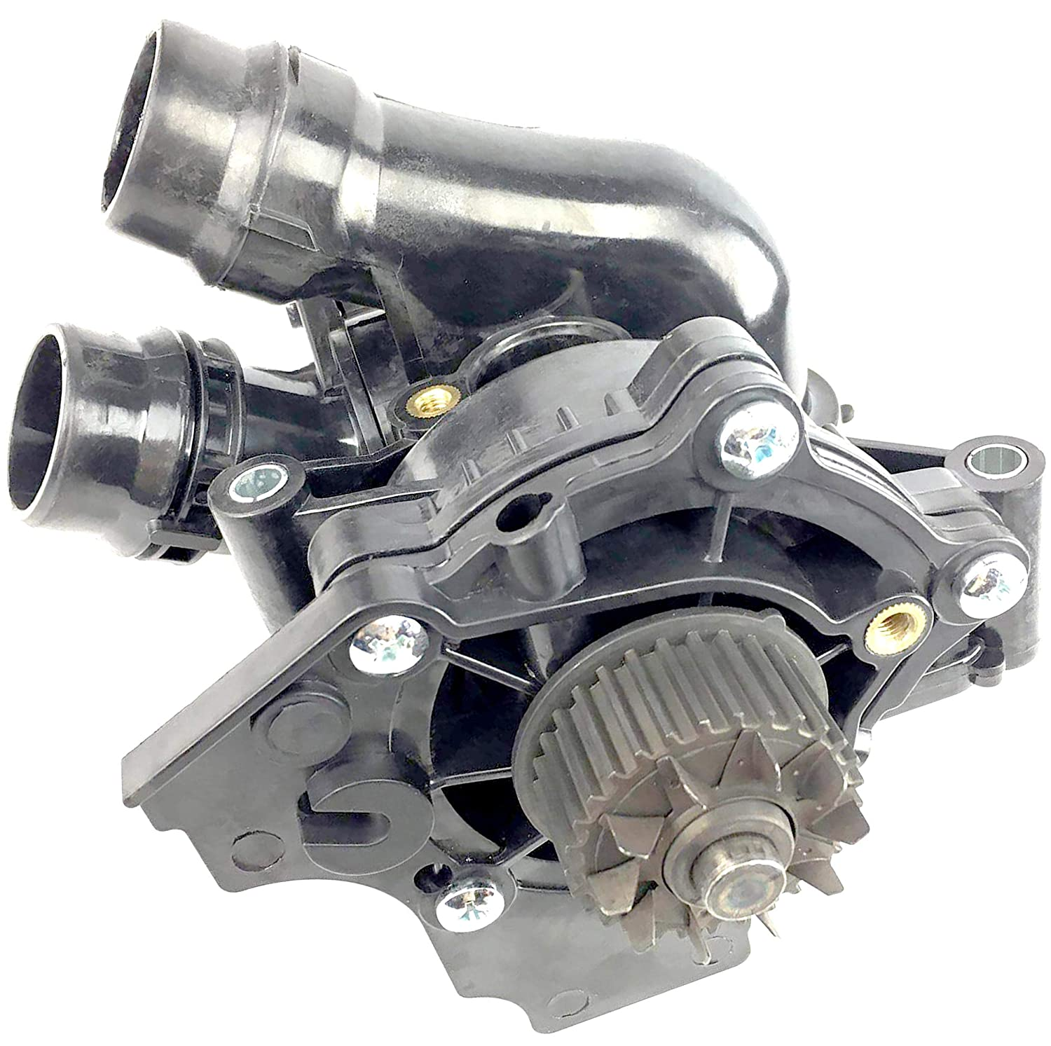 APDTY 141363 Thermostat /& Water Pump Housing Assembly Fits 2.0L Engine On Select VW or Audi Models Including Quattro See Description For Specific Models Replaces 06H 121 026 DD, 06H 121 026BA