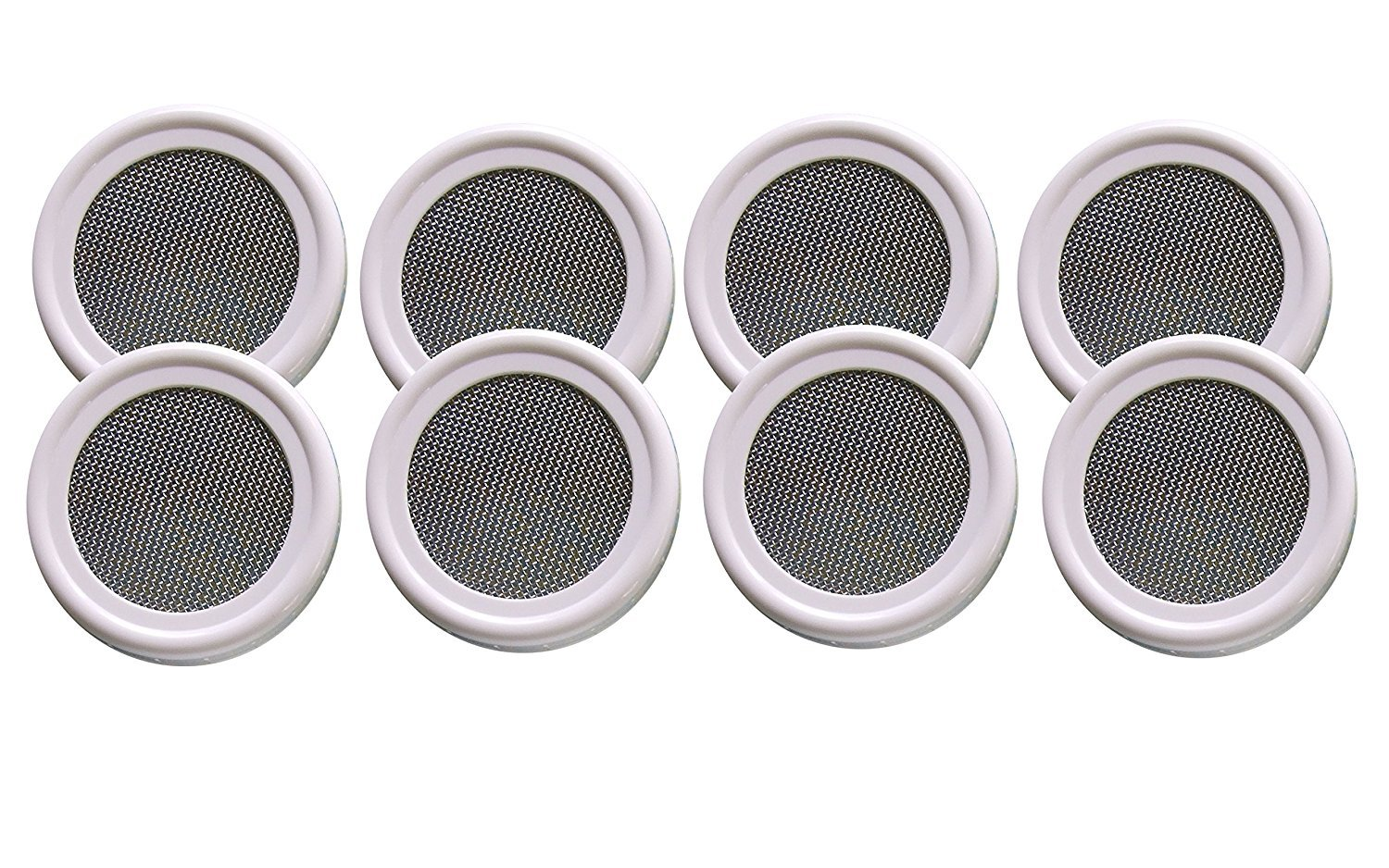 Sprouting Lid for Mason Jars 'The Original Speed Strainer Lid'® (Set of 8 Wide Mouth Lids) for Sprouts, Sprouting, Sifting, & Straining Unbound Farm®