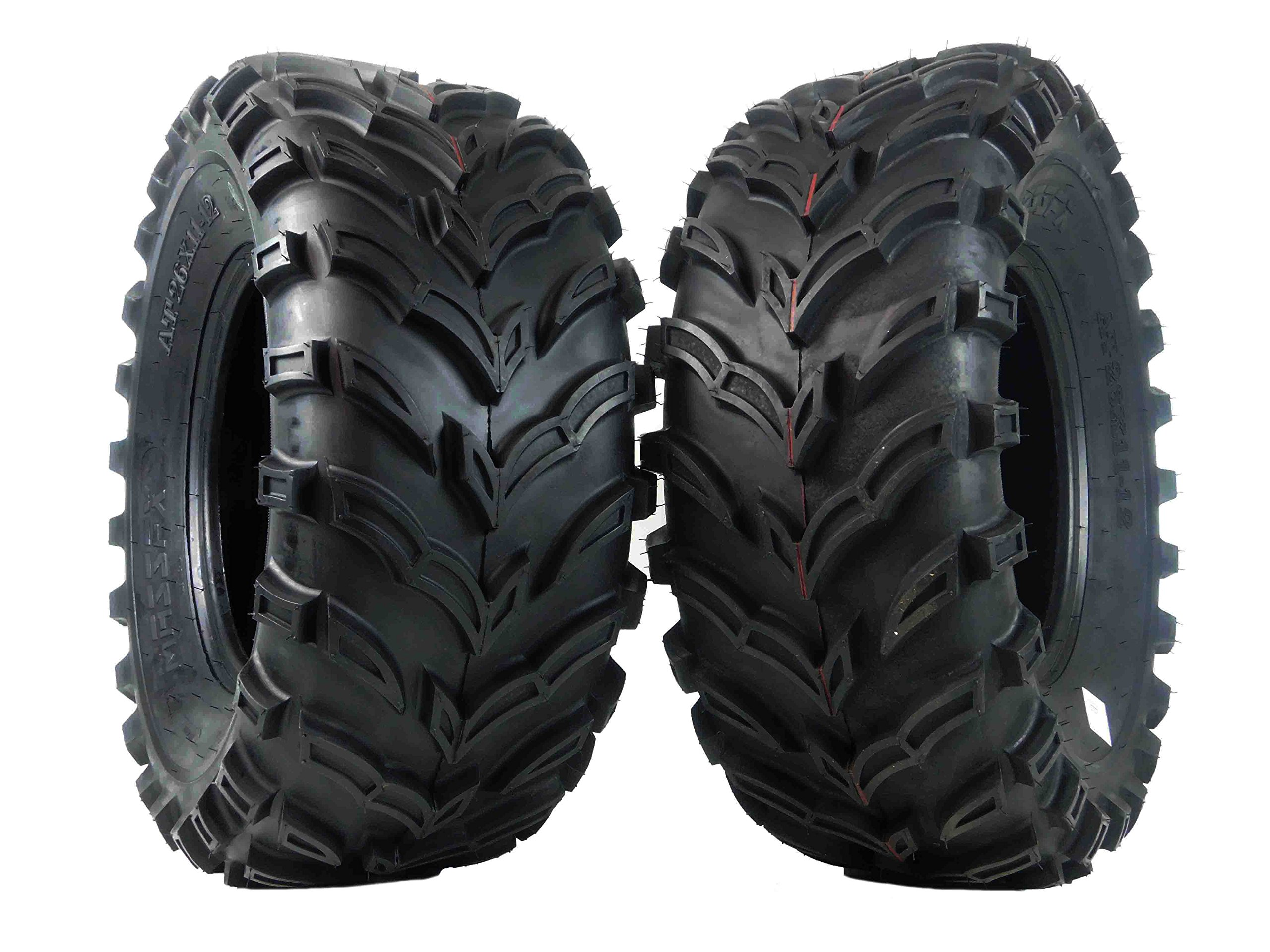 New MASSFX MS ATV/UTV Tires 26 x11-12 Rear, Set of 2 26x11x12 26x11/12