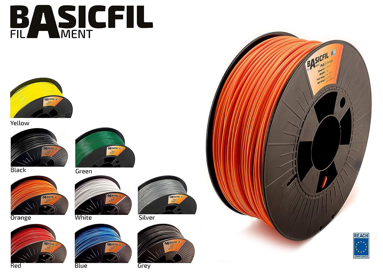 BASICFIL PLA 2.85mm, 1 kg filamento de impresión 3D, Naranja ...
