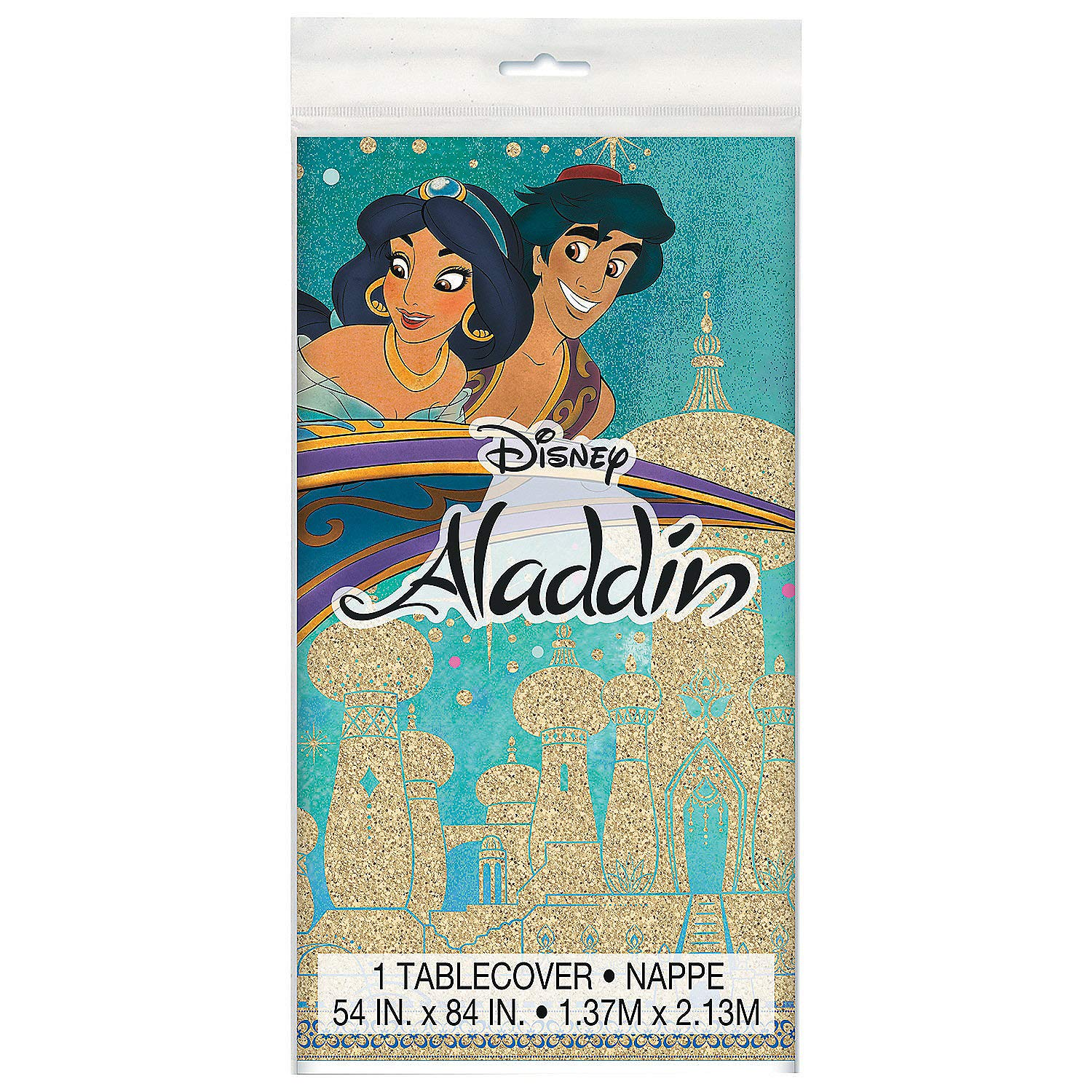 Amazon.com: Fun Express – Mantel de plástico Aladdin – 53.9 ...