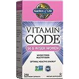Garden of Life Multivitamin for Women 50 & Over, Vitamin Code Women 50 & Wiser Multi - 240 Capsules, Vitamins for Women…
