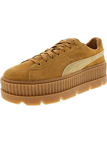 d2b207090d7 PUMA Women's Cleated Creeper Suede Golden Brown/Lark 6 ...