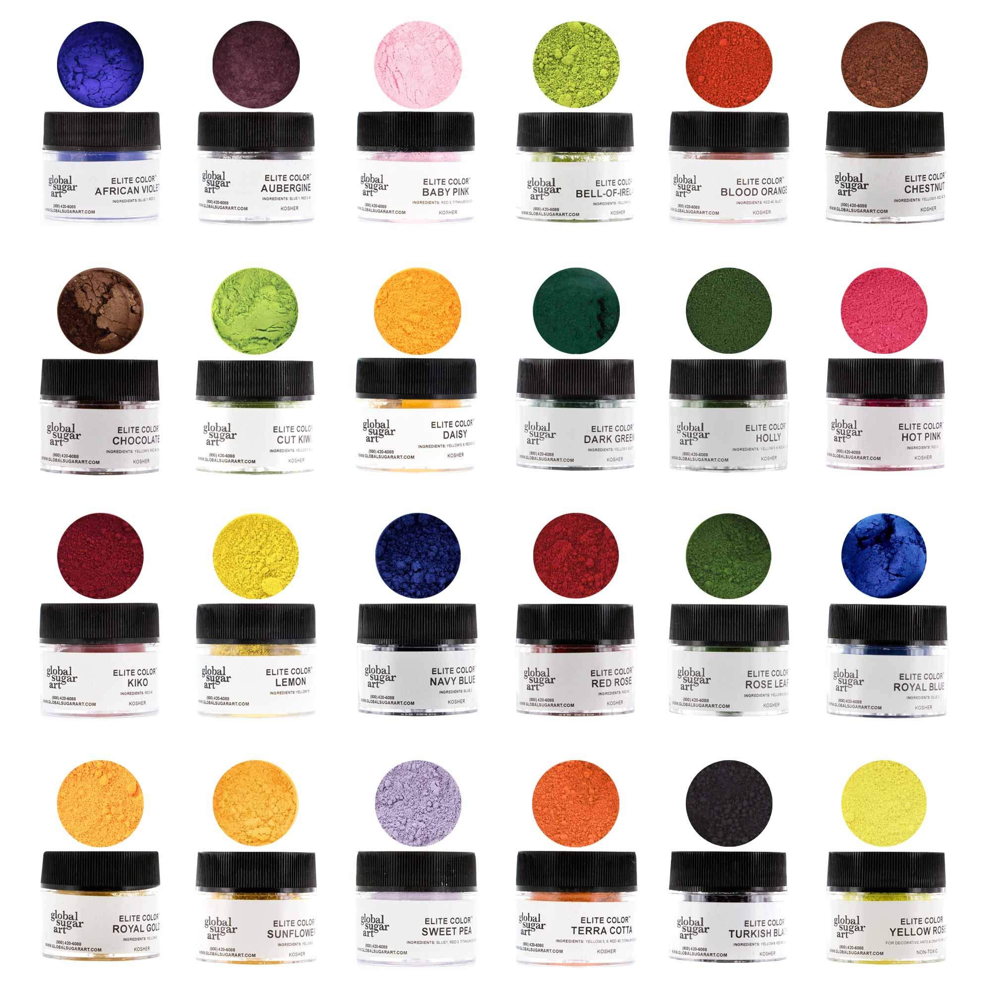 Master Premium Petal Dust Kit, 24 Color by Global Sugar Art by Global Sugar Art (Image #1)