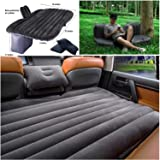 BK 10 IMPORT & EXPORT Polypropylene and Velvet Sleeping Back Seat with Electric Pump Car Inflatable Bed