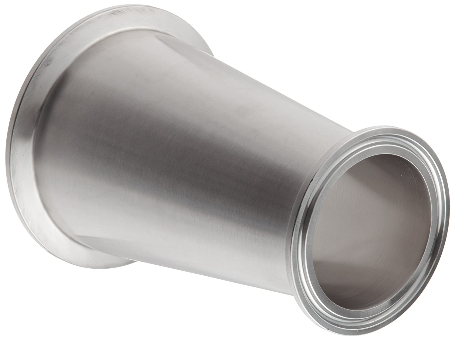 2-1//2 Tube OD x 1-1//2 Tube OD Dixon B3114MP-G250150 Stainless Steel 304 Sanitary Fitting Clamp Concentric Red Fiberglassucer