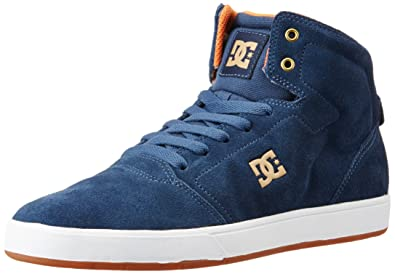 DC Men s Crisis High Navy Leather Sneakers - 5.5 UK India (38.5 EU ... 1e34bd216431c