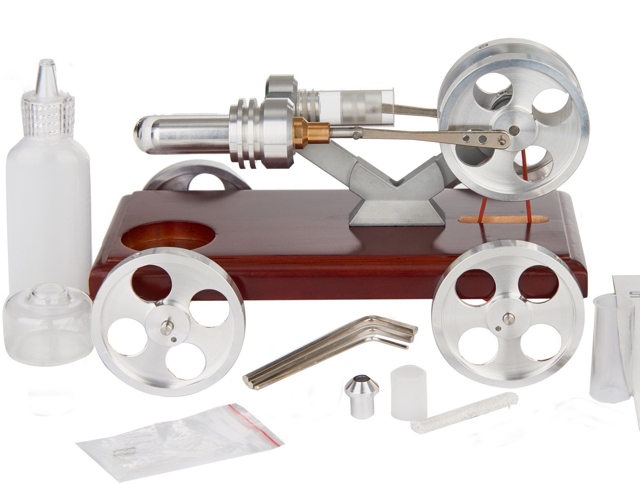 Sunnytech Hot Air Stirling Engine Education Toy Electricity Power (XC01)