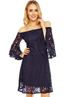 0d29d176ba13 Mayaadi Kleid Cocktail-Kleid Party-Kleid Abend-Kleid Mini-Kleid Spitzen-