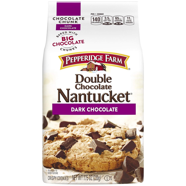 Pepperidge Farm Nantucket Crispy Double Chocolate Chunk Cookies 7 75 Oz Amazon Com Grocery Gourmet Food