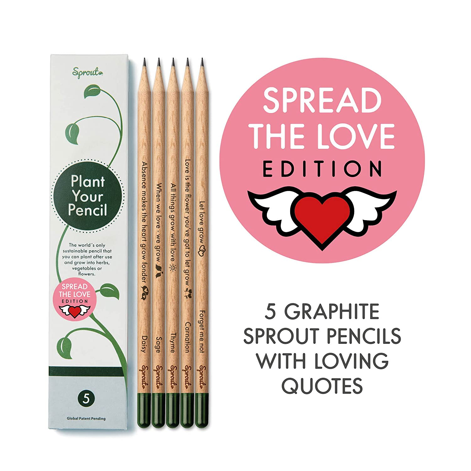 Amazon.com : Sprout Pencils Spread the Love Edition Box | 5 ...