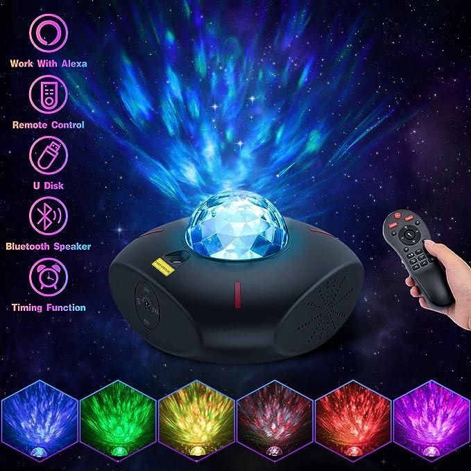 Ciel /étoil/é LED Galaxy Light avec t/él/écommande et Bluetooth No/ël lampe de projection pour f/ête P/âques
