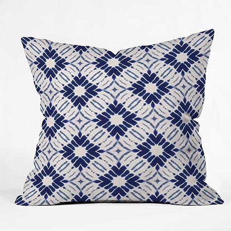 Amazon Com Deny Designs 61933 Othrp18 Jacqueline Maldonado Watercolor Shibori Outdoor Throw Pillow 18 X18 Blue Garden Outdoor