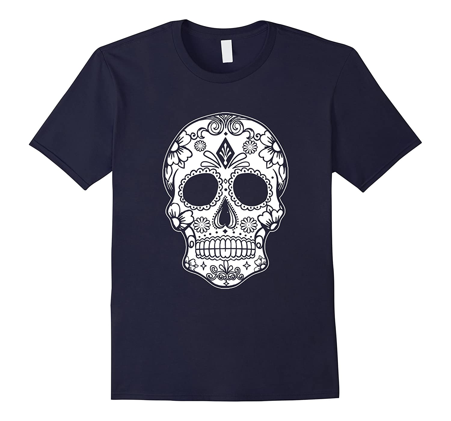 Sugar Skull - Day of the Dead Graphic T shirt Tees-PL