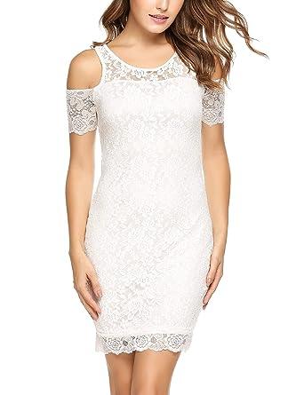 4067a95ba4f1 dozenla Women Off Shoulder Short Sleeve Dress Women Floral Print Lace Dress  Women Lace Pencil Dress Dresses at Amazon Women s Clothing store