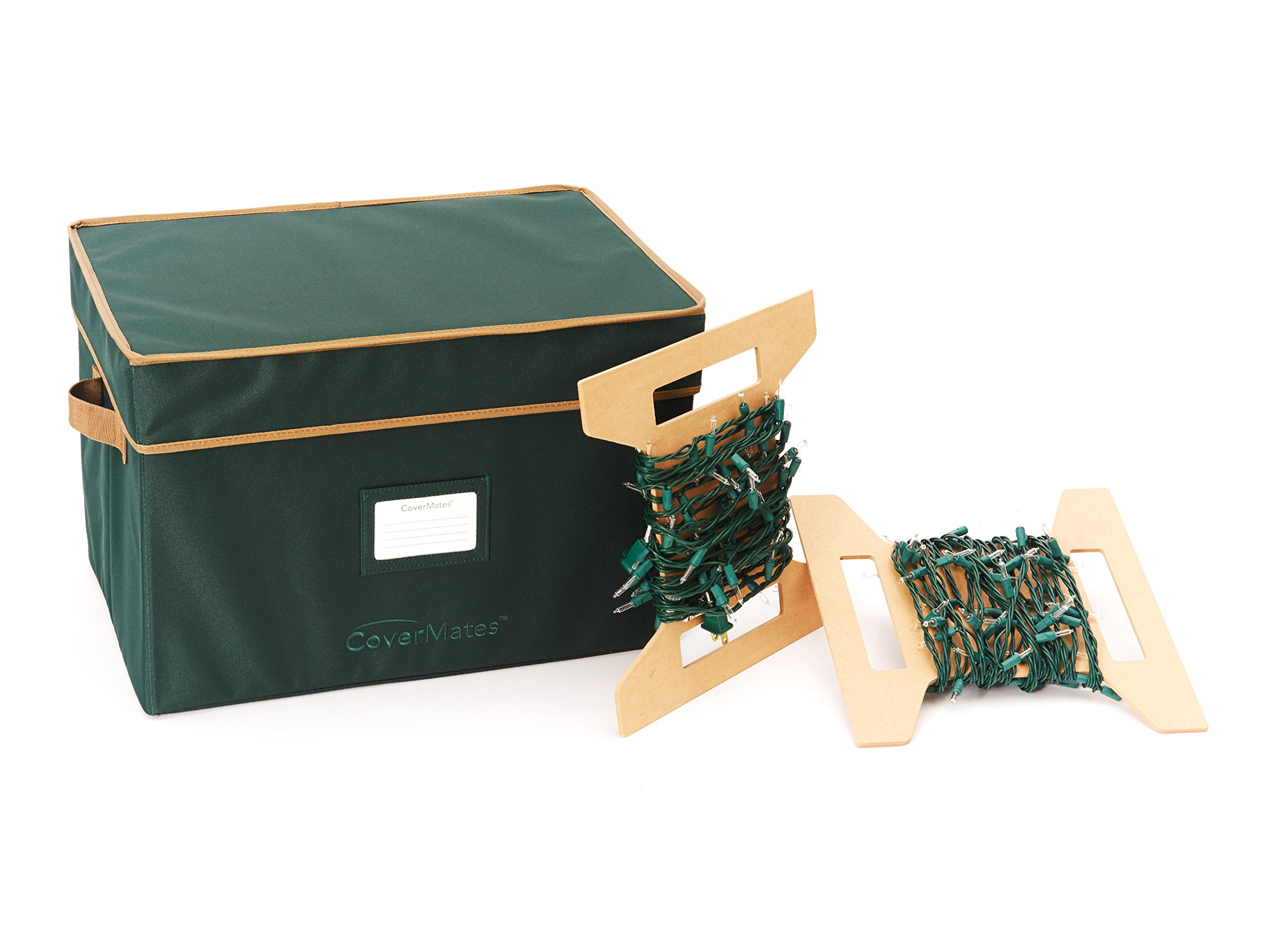 CoverMates – 18'' Holiday LightKeeper Storage Box – 3 Year Warranty- Green