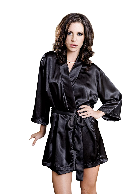 Wedding Satin Robes amazon com icollection womens satin robe clothing