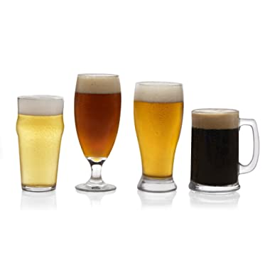 Libbey Craft Brews Assorted Beer Glasses, Set of 4