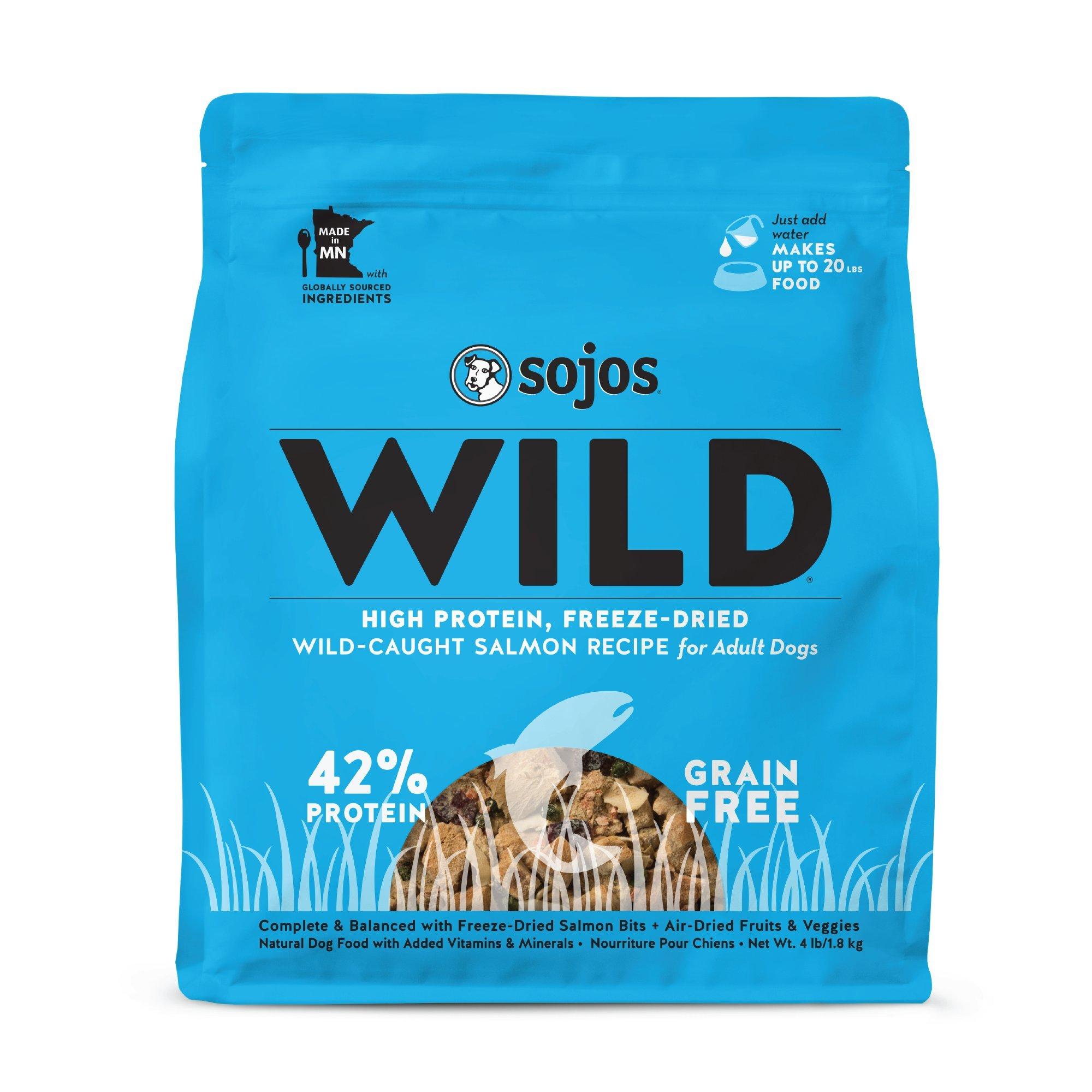 Sojos Wild Salmon Recipe Freeze-Dried Raw Dog Food, 4 Lb. by SOJOS
