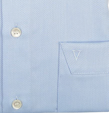 Marvelis Modern Fit - Camisa, color azul claro