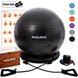 RGGD&RGGL Yoga Ball Chair, Exercise Ball with Leak-Proof Design, Stability Ring&2 Adjustable Resistance Bands for Any…