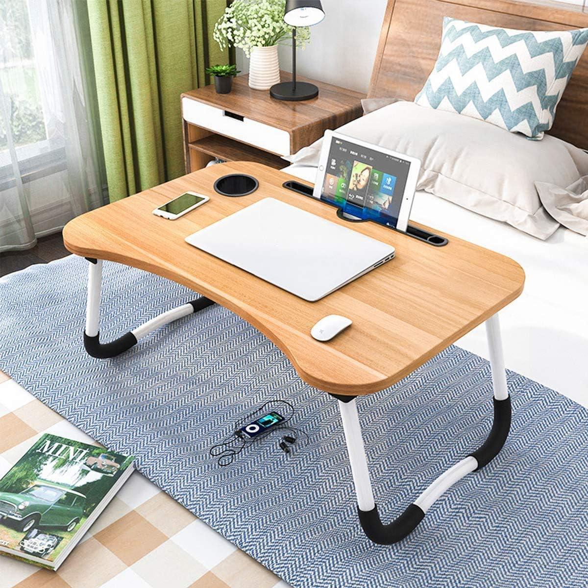 Laptoptisch Lapdesk bandeja de cama para el escritorio o como bandeja de desayuno para cama y sof/á mesa plegable Mesa de cama mesa de cama plegable para leer 60 x 40 cm soporte para port/átil
