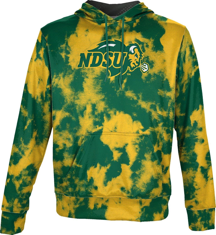 Grunge North Dakota State University Mens Pullover Hoodie School Spirit Sweatshirt