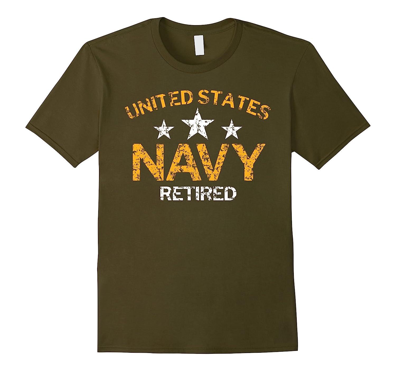 United States Navy Retired Faded Grunge T-Shirt-FL