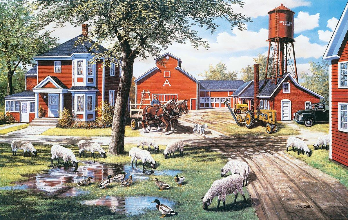 大特価!! Farmyard companions 550 550 Piece companions Jigsaw Jigsaw by Sunsout B07C9L2M9P, ICE CRYSTAL ドレス ダウンコート:4e21a2de --- a0267596.xsph.ru