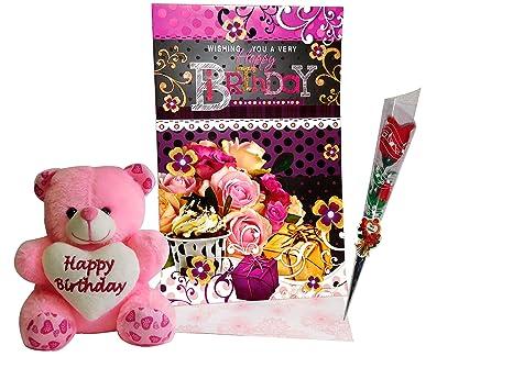 Buy Birthday Gifts For Girlfriend Greeting Card Soft Teddy