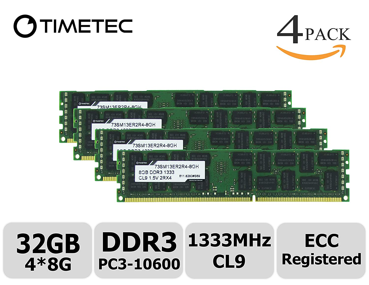 Amazon in: Buy Timetec Samsung 32GB Kit (4x8GB) DDR3 1333MHz