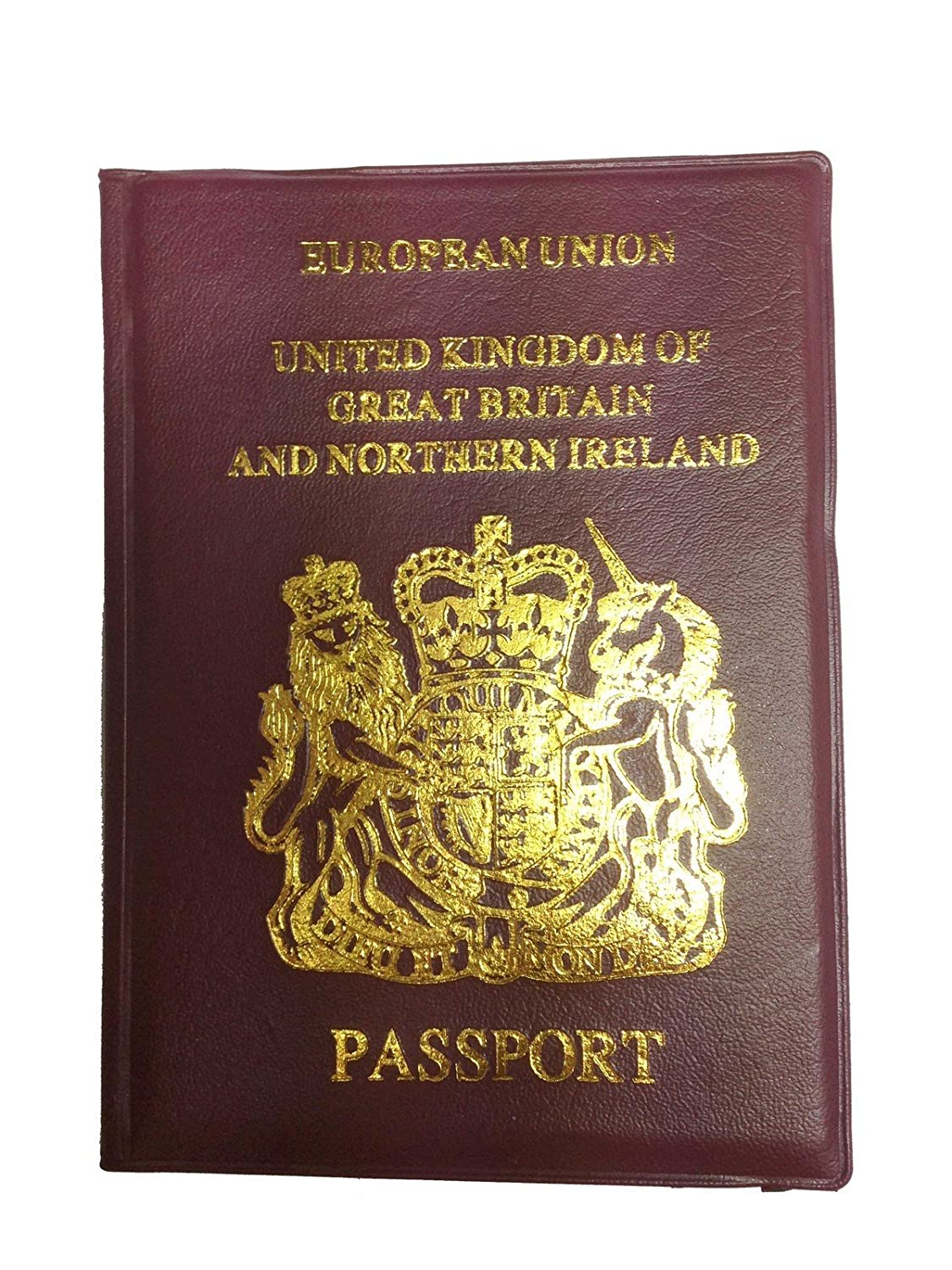UK PU Leather Passport Holder EU Travel Document Protector Wallet Cover Case