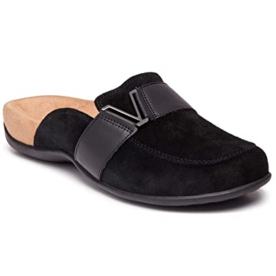 Vionic Women's Rest Maude Backless Mule - Ladies Flats with Concealed Orthotic Arch Support   Mules & Clogs