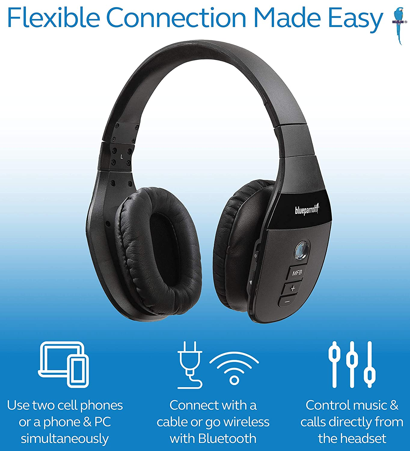e1748b3c738 Amazon.com: BlueParrott S450-XT Noise Cancelling Bluetooth Headset Bundle  with Blucoil Micro USB Car Charger, Blucoil USB Wall Adapter, and Blucoil  5-Pack ...