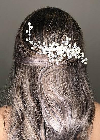 Amazon Com Kercisbeauty Wedding Simple Pearl Hair Comb For Brides