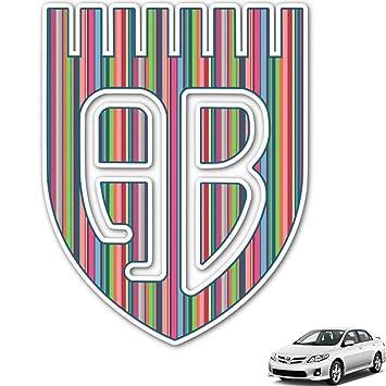 Amazoncom Retro Vertical Stripes Monogram Car Decal - Monogram car decal amazon