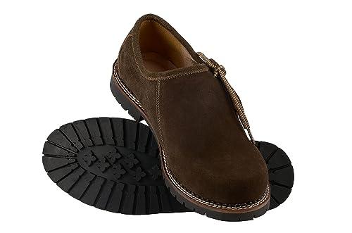Cuero Trachtenmode Zapatos De Cordones Schlusen Para Hombre 0IUBHB