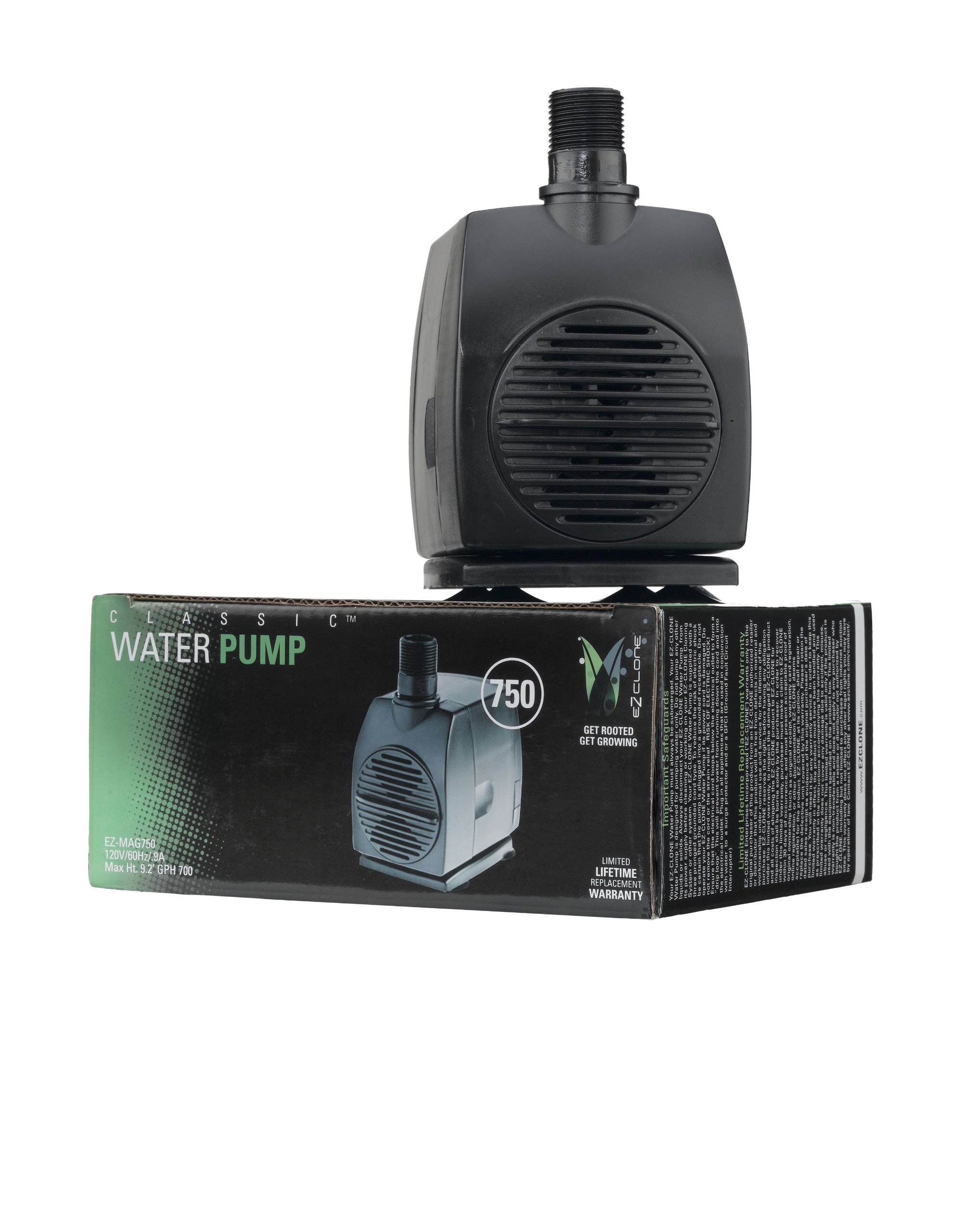 EZ Clone EZWP-750 750 Plant Cloning Equipment, 700 GPH Pond-Water-Pumps, Natural