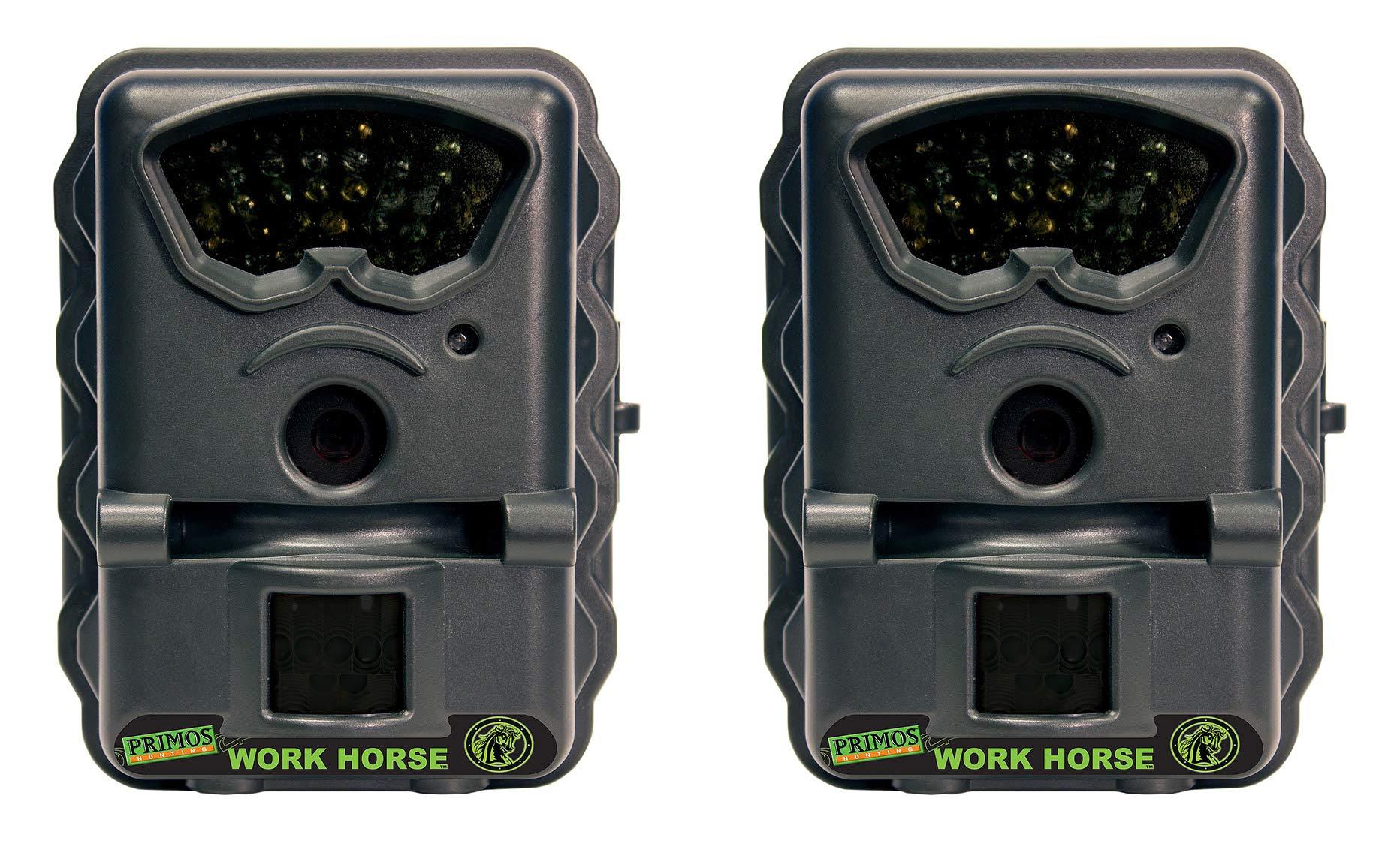 Primos Work Horse 3MP Infrared Trail Camera (Certified Refurbished) (2 Pack)