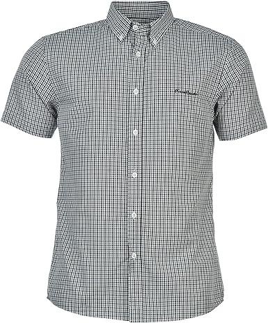 Pierre Cardin - Camisa para hombre Carreaux Blanc/Noir/Gris XXL: Amazon.es: Ropa y accesorios