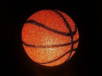 GIFTEXPRESS BasketBall Sparkle Lamp Molded Light/ Soft Plastic Sport Desk  Lamp/Basketball Night Light