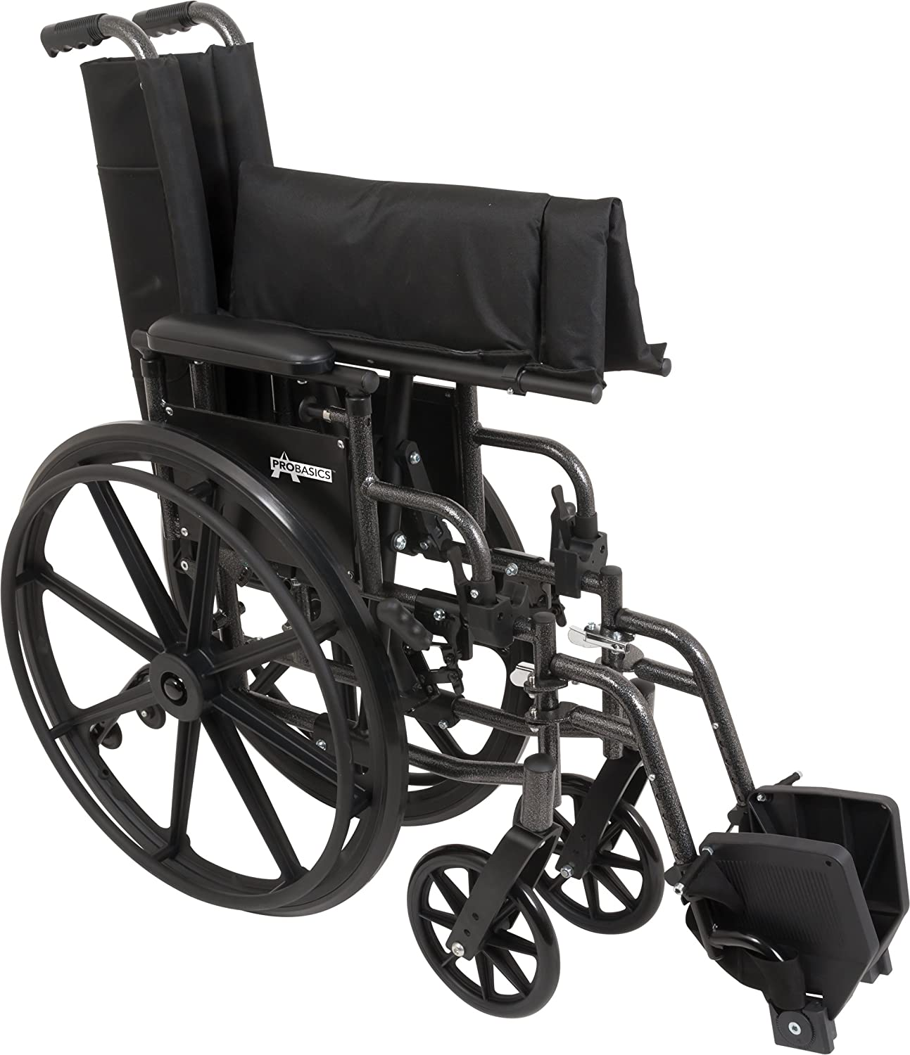 """ProBasics Ultra Lightweight Wheelchair for Adults - Height Adjustable Seat - Flip Back Heaight Adjustable Desk Arms - Swing-Away Foot Rest, 20"""" x 16"""" Seat: Industrial & Scientific"""