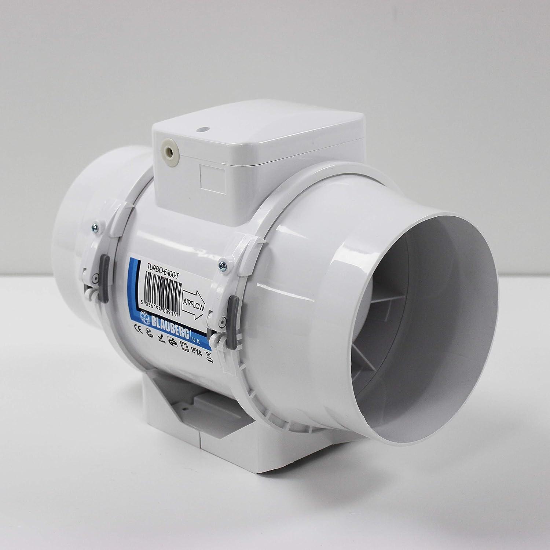 /Brilliant Wei/ß Blauberg UK 100/leise Style V 100/mm Standard Abluftventilator/