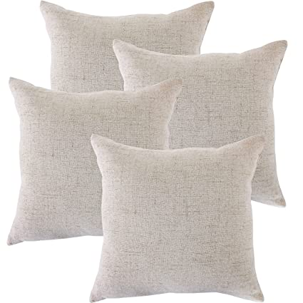 Amazon ALBAD Linen Pillow Covers 400 X 400 Inch Sets Of 40 French Best 20 X 20 Inch Pillow Covers