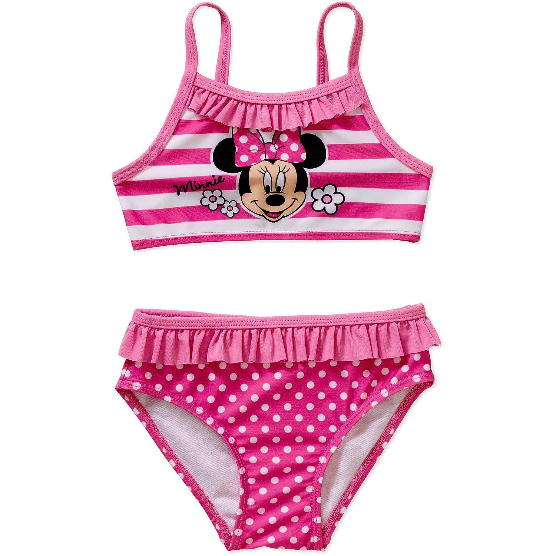 Amazon.com: Disney Minnie Mouse Girls 2-Piece Swim Suit Swimsuit ...
